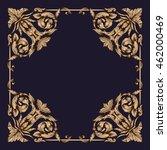 premium gold vintage baroque...   Shutterstock .eps vector #462000469