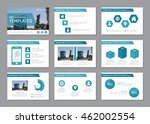 set of blue template for... | Shutterstock .eps vector #462002554