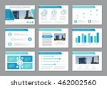set of blue template for... | Shutterstock .eps vector #462002560