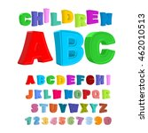 children abc. large letters in...