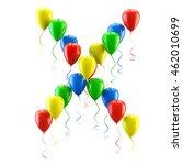 3d rendering.funny balloons... | Shutterstock . vector #462010699