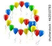 3d rendering.funny balloons... | Shutterstock . vector #462010783
