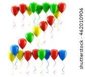 3d rendering.funny balloons... | Shutterstock . vector #462010906