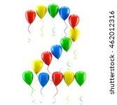 3d rendering.funny balloons... | Shutterstock . vector #462012316