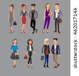 vector detailed characters... | Shutterstock .eps vector #462017146