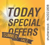 summer sale banner design with... | Shutterstock .eps vector #462021808