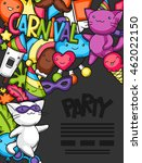 carnival party kawaii flayer.... | Shutterstock .eps vector #462022150