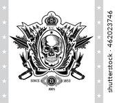skull front view in center of...   Shutterstock .eps vector #462023746