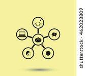 infographic template. family... | Shutterstock .eps vector #462023809