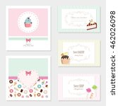 cute card templates set. for... | Shutterstock .eps vector #462026098
