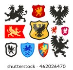 shield with griffin  gryphon ... | Shutterstock .eps vector #462026470