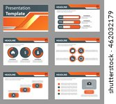 orange multipurpose infographic ... | Shutterstock .eps vector #462032179
