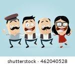 greek people dancing... | Shutterstock .eps vector #462040528