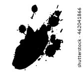 abstract black ink spot... | Shutterstock .eps vector #462041866
