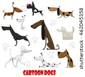 dogs cartoon set with bull... | Shutterstock .eps vector #462045358