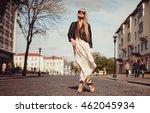 outdoor beauty portrait woman ... | Shutterstock . vector #462045934