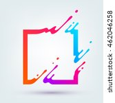 Vector illustration with abstract colorful square. Abstract splash, liquid shape. Background for poster, cover, banner, placard. Logo design | Shutterstock vector #462046258