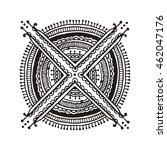indian ethnic henna tattoo...   Shutterstock . vector #462047176
