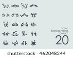set of business people conflict ...   Shutterstock .eps vector #462048244
