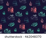 tasty cakes seamless pattern....   Shutterstock .eps vector #462048370