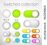 sliders and switchers | Shutterstock .eps vector #46204864