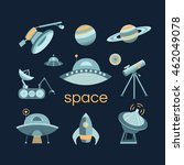 space icon set. collection of... | Shutterstock .eps vector #462049078