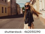 beauty fashion model  outdoor... | Shutterstock . vector #462050290