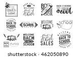vector set of back to school ... | Shutterstock .eps vector #462050890