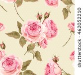 english roses seamless | Shutterstock .eps vector #462052210