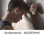 sad teen boy concrete | Shutterstock . vector #462055444