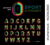 bright colorful font line... | Shutterstock .eps vector #462062860