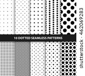 collection of seamless dotted... | Shutterstock .eps vector #462069283