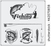 Set Of Retro Fishing Labels ...
