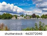 Alster Lake In Hamburg Germany...