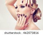 blonde model  girl  with... | Shutterstock . vector #462073816