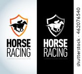 horse racing logotype template