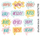 vector set of speech bubbles ... | Shutterstock .eps vector #462076798