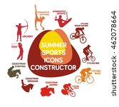 set of summer sports... | Shutterstock .eps vector #462078664