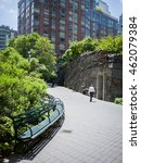 teardrop park in battery park... | Shutterstock . vector #462079384