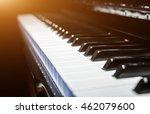 Closeup View Of Classical Piano ...