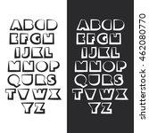 modern black and white bold... | Shutterstock .eps vector #462080770