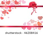 modern frame with hearts  red... | Shutterstock .eps vector #46208416