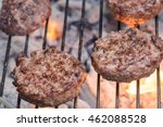 burgers on a barbecue  | Shutterstock . vector #462088528