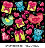 cute seamless valentine... | Shutterstock .eps vector #46209037