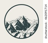 illustration landscape mountains | Shutterstock .eps vector #462091714