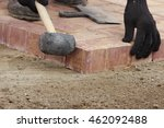 laying paving slabs on city... | Shutterstock . vector #462092488