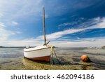 Fishing Boat In Low Tide