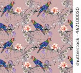 beautiful seamless pattern with ... | Shutterstock . vector #462100030