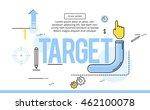 target  line flat design banner ... | Shutterstock .eps vector #462100078