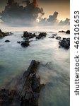 scenery of pandak beach located ... | Shutterstock . vector #462101653